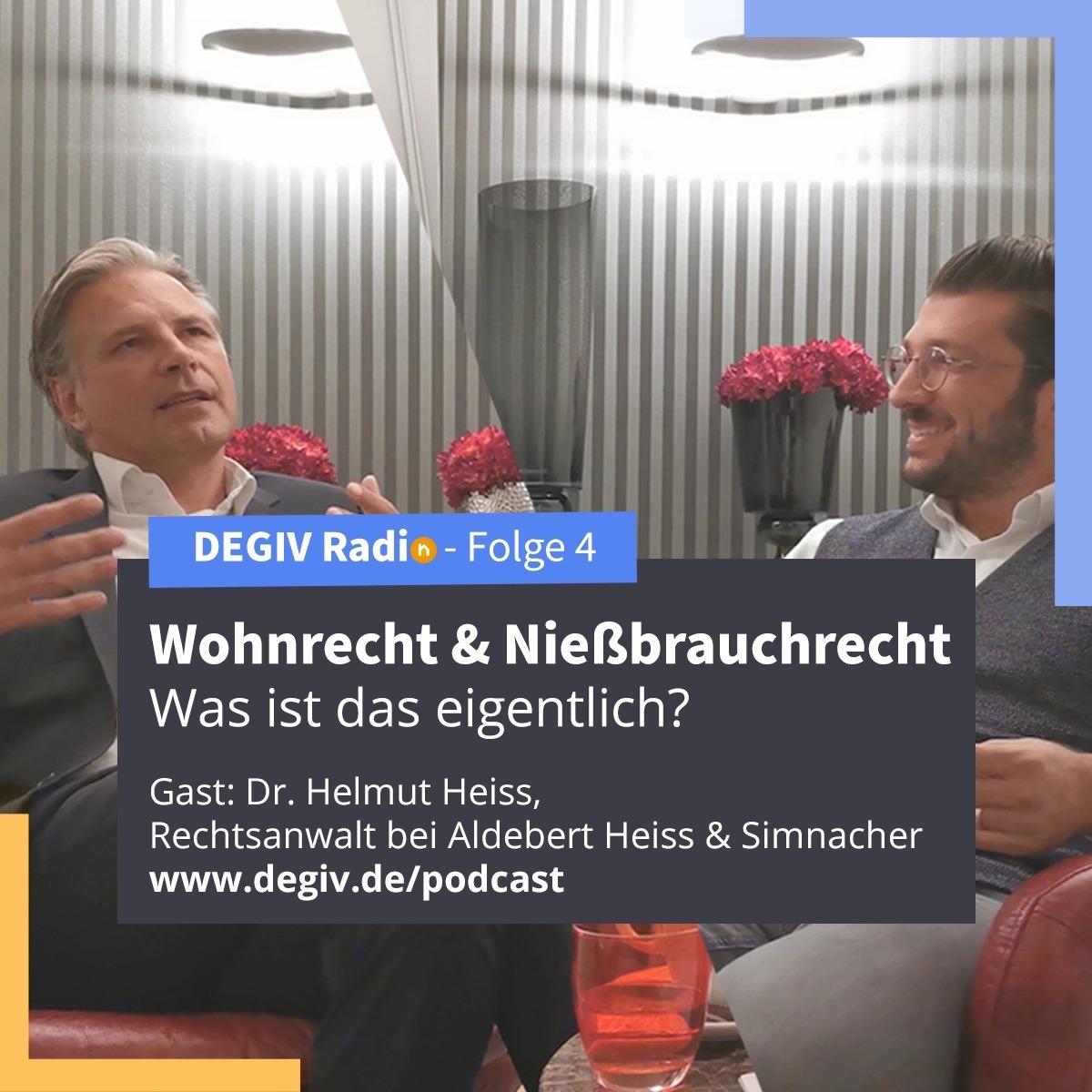 DEGIV Podcast - Immobilienverrentung und die Rechte