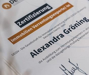 Zertifikat der DEGIV Academy