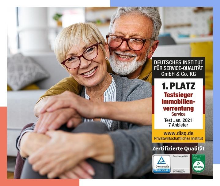 Testsieger Immobilienverrentung & TÜV und DEKRA zertifiziert