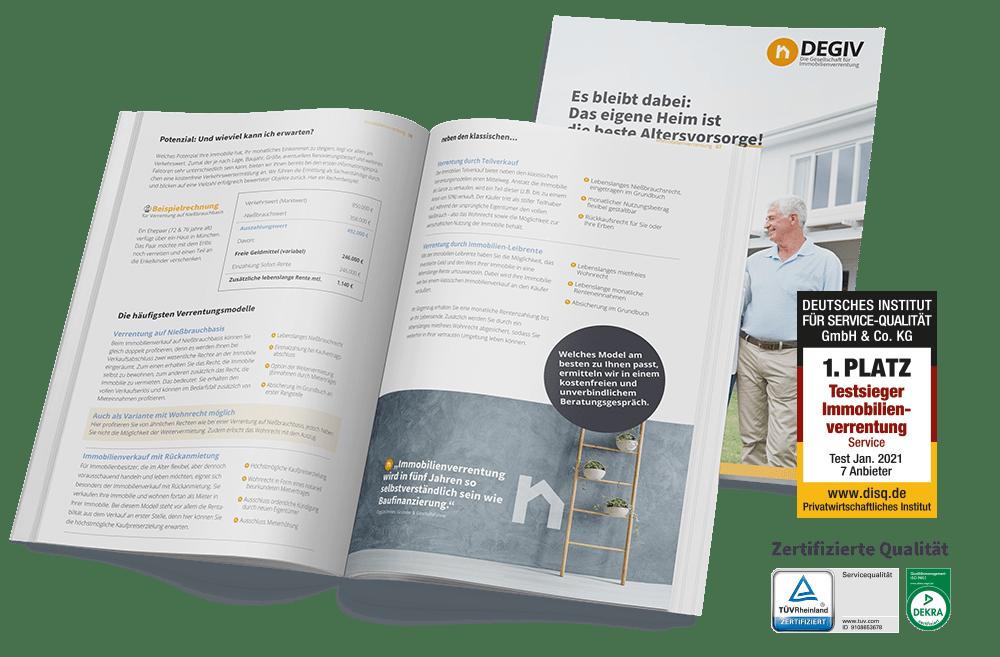 Unverbindliches Infopaket zur Immobilienverrentung